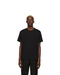 schwarzes und weißes T-Shirt mit einem Rundhalsausschnitt von Givenchy