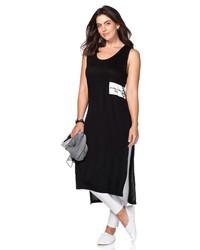 schwarzes und weißes Trägerkleid von SHEEGO CASUAL