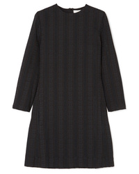 schwarzes vertikal gestreiftes gerade geschnittenes Kleid von Chloé