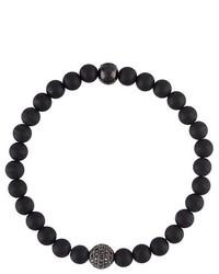 schwarzes Perlen Armband
