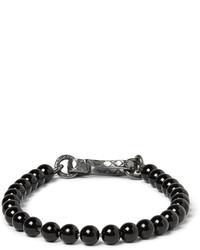 schwarzes Perlen Armband von Bottega Veneta