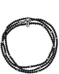 schwarzes Perlen Armband von M. Cohen