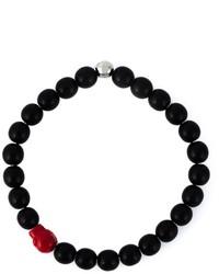 schwarzes Perlen Armband von Paul Smith