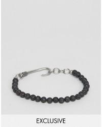 schwarzes Perlen Armband von Seven London