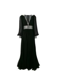 schwarzes verziertes Ballkleid von Dolce & Gabbana
