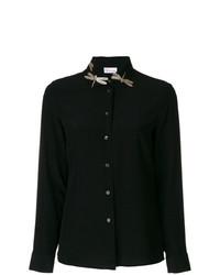 schwarzes verziertes Businesshemd von RED Valentino