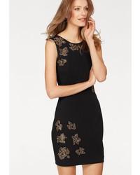 schwarzes verziertes figurbetontes Kleid von SIENA STUDIO