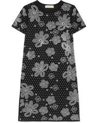 schwarzes verziertes gerade geschnittenes Kleid von MICHAEL Michael Kors