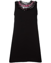 schwarzes verziertes gerade geschnittenes Kleid von Opening Ceremony