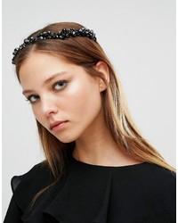 schwarzes verziertes Haarband von Aldo