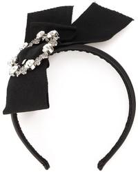 schwarzes verziertes Haarband von Dolce & Gabbana
