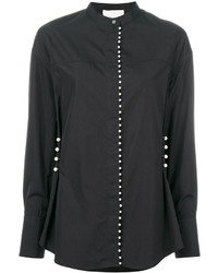 schwarzes verziertes Hemd von 3.1 Phillip Lim