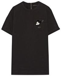 schwarzes verziertes Jeans Freizeitkleid von Marc Jacobs