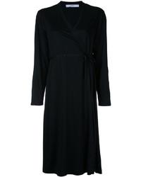 schwarzes Wickelkleid von ASTRAET