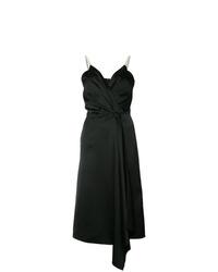 schwarzes Wickelkleid von Victoria Beckham