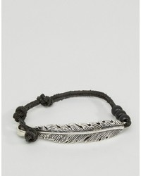 schwarzes Wildlederarmband