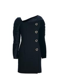schwarzes Wolletuikleid von Versace Vintage