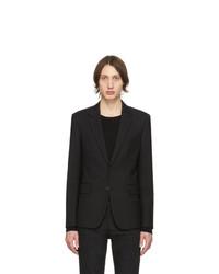 schwarzes Wollsakko von Saint Laurent