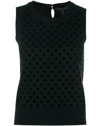 schwarzes Wollträgershirt von Marc Jacobs