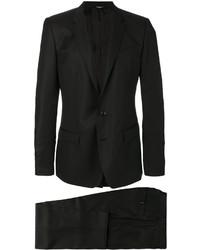 schwarzes Zweireiher-Sakko aus Seide von Dolce & Gabbana