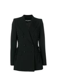 schwarzes Zweireiher-Sakko von Dolce & Gabbana