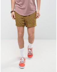 senf bedruckte Shorts von Asos