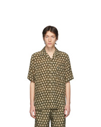 senf bedrucktes Kurzarmhemd von Nanushka