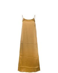 senf Camisole-Kleid aus Satin von Uma Wang