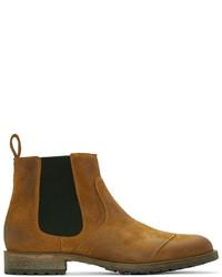 senf Chelsea-Stiefel aus Wildleder von Belstaff