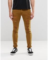 senf enge Jeans von Asos