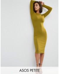 senf figurbetontes Kleid von Asos