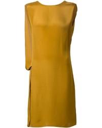 senf gerade geschnittenes Kleid
