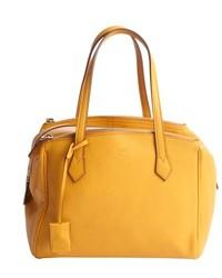 senf Lederhandtasche