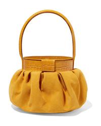 senf Lederhandtasche von Rejina Pyo