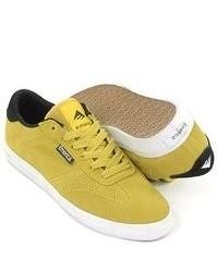 senf niedrige Sneakers