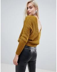 senf Oversize Pullover von ASOS DESIGN