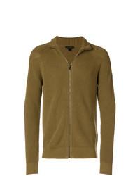 senf Pullover mit einem Reißverschluß von Belstaff