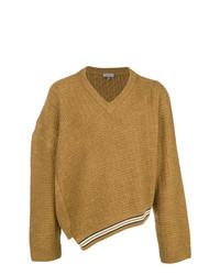 senf Pullover mit einem V-Ausschnitt von Lanvin