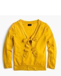 senf Pullover mit einer Kapuze