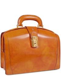senf Satchel-Tasche aus Leder