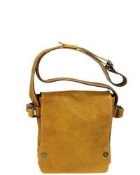 senf Satchel-Tasche aus Leder von HAROLD´S