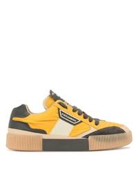 senf Segeltuch niedrige Sneakers von Dolce & Gabbana
