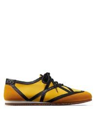 senf Segeltuch niedrige Sneakers von Jimmy Choo