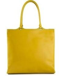 senf Shopper Tasche aus Leder