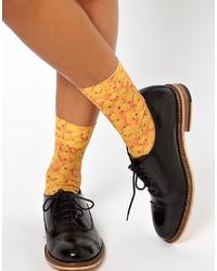 senf Socken von Asos