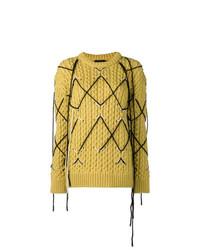 senf Strickpullover von Calvin Klein 205W39nyc