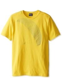 senf T-Shirt mit einem Rundhalsausschnitt