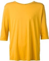 senf T-Shirt mit einem Rundhalsausschnitt von Attachment
