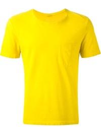senf T-Shirt mit einem Rundhalsausschnitt von Massimo Alba