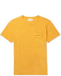 senf T-Shirt mit einem Rundhalsausschnitt von Oliver Spencer